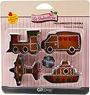 Gp & Me 5288 Tagliabiscotti 4 pezzi Veicoli Mezzi di Trasporto Metallo