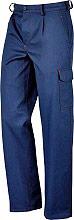 Greenbay 435225 50 Pantaloni da lavoro Multitasche Cotone Tg 50 Blu Supercargo 435225