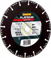 Grinding PLATINUM MULTI CUT Disco Diamantato per Ghisa ferro Corona con Sfoghi 115 mm Platinum