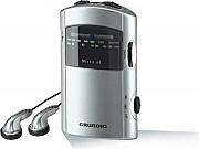 Grundig Radio portatile AMFM Jack 3,5 mm Alimentazione batterie MICRO61 GRR1991