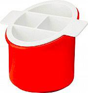 Guzzini 1345631 Scolaposate 4 Scomparti colore Rosso  Bianco  Forme casa
