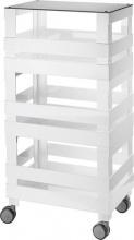 Guzzini 170301100 Carrello Tidy & Store 46 x 32 x 89 h cm colore Bianco
