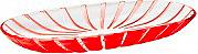 Guzzini 27970065 Vassoio da Portata centrotavola colore Rosso  Grace