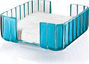 Guzzini 29330081 Portatovaglioli da Tavolo Quadrato colore Azzurro Mare  Grace