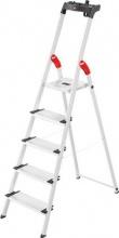 HAILO 8040-507 Scala alluminio 5 gradini Domestica h 280 cm