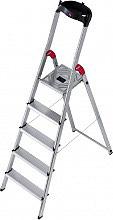 HAILO 8160-501 Scala alluminio 5 gradini Domestica h 280 cm  L60