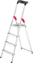 HAILO 8160-401 Scala alluminio 4 gradini Domestica h 260 cm  L60