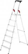 HAILO HH8507001 Scala Alluminio Scaletto 7 gradini Domestico Piedini Antiscivolo 8160-707