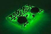 HERCULES Mixer DJ Controller due banchi Verde Fluorescente dj glow green 4780839