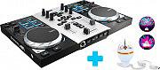 HERCULES DJ CONTROL AIR S PARTY Mixer Dj Usb 8 Pad 2 piatti Effetti Loop Win Mac DjControl Air S Party