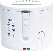 HOWELL Friggitrice elettrica 2,5Lt 1600W Termostato regolabile col Bianco FR2015