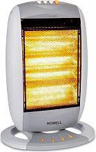 HOWELL Stufa elettrica Alogena Potenza 1800 Watt Oscillante HO.RSA1810
