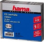 Hama 51289 Custodia Slim per CD confezione da 5 Custodie