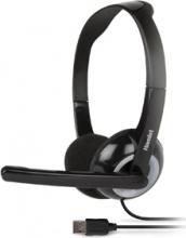 Hamlet HHEADMUS Cuffie con Microfono Gaming Nero  Smart Headset
