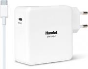 Hamlet XPWNB65TC Alimentatore Caricabatterie Notebook USB C 61W colore Bianco