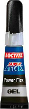 Loctite 1158660 Adesivo istantaneo universale Super Attak Power Flex 3 gr.