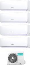 Hisense DJ25252535VE0AG + 4AMW81U4RAA Climatizzatore Inverter Quadri Split 9+9+9+12 Btu 4AMW81U4RA New Comfort
