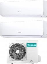 Hisense DJ2535VE0AG+2AMW50U4RXA Climatizzatore Dual Split Inverter 9+12 Btu Condizionatore 2AMW50U4RXA