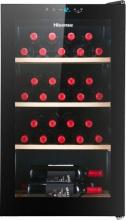 Hisense RW30D4AJ0 Cantinetta Vino Frigo 30 bottiglie Ripiani in legno Nero