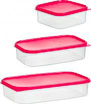 Cosmoplast 104-106-107 Set 3 Contenitori Alimenti chiusura Ermetica colori Assortiti 10467
