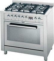 Hotpoint Ariston Cucina a Gas 5 Fuochi Forno Elettrico Ventilato 90x60cm CP98SEA