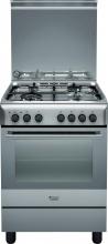 Hotpoint Ariston H6TMH2AF (X) IT Cucina a Gas 4 Fuochi Forno Elettrico 60x60 cm