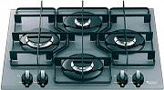 Hotpoint Ariston TQ 640 (ICE) K X HA Piano cottura 4 Fuochi incasso a gas 60 cm Cristallo TQ640ICEKX