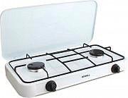 HOWELL Fornello a gas portatile Campeggio 2 fuochi HPG200