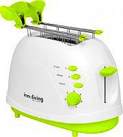 INNOLIVING Tostapane per Toast 2 Fette 700W 7 Livelli cottura Timer INN-701