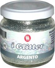 I.N.R. 8.810.0002-50 Glitter Polvere gr 50 Colore Argento Pezzi 6