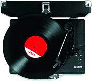 ION VINYL MOTION Giradischi USB velocità 33 13.45.78 Nero  Rosso Vynil Motion LP
