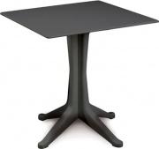 IPAE PROGARDEN PNT012AN Tavolo da Giardino Tavolino Plastica 70x70 Antracite