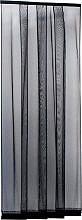 IRS Zanzariera porta finestra Lamelle cm. 100x250 colore Nero - ZM00810025018