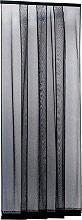IRS ZM00814025018 Zanzariera porta finestra Lamelle cm. 140x250 colore Nero