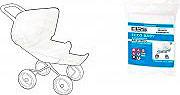 IRS ZM21314009016 Zanzariera passeggino colore bianco ECCO BABY