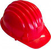 IVARS 120122202R Casco sicurezza Elmetto Antinfurtunistica Protettivo Rosso