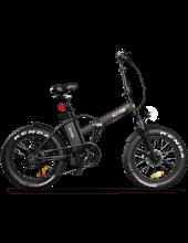 Icon.E Allroad Pure Black Bicicletta Elettrica Pieghevole Fat Bike 250 W 40 km Nero Allroad