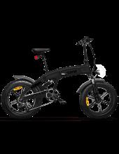 Icon.E Icross-X7 Total Deep Black Bicicletta Elettrica Pieghevole Fat Bike 250 W 50 km Nero Icross-X7