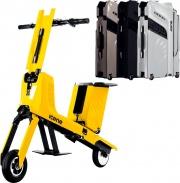 Icon.E Voyager Titanium Active trolley Scooter pieghevole 30 km portata 80 Kg Titanium Voyager