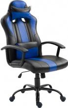 Icon Space 5D1144BU Sedia Gaming Ergonomica Cuscino Nero Blu 66x64x116-126cm