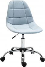 IconSpace 921366BU Sedia Girevole Scrivania Ufficio Ergonomica Regolabile Azzurr