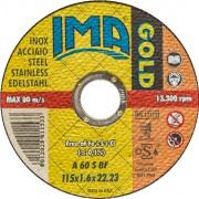 Ima 1151622I2TM Minidisco per Inox Gold Piano 115x1,6x22 Pezzi 50