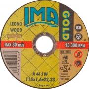 Ima 1151622L2TM Minidisco per Legno Gold Piano 115x1,6x22 Pezzi 50