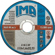 Ima KIT11516F Minidisco Ferro Cf.5Pz Piano ø 115x1,6x22 Confezioni 10