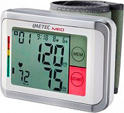 Imetec 5729 Misuratore di Pressione da Polso Guida Vocale Display Grande BP1 100 MED