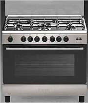 Indesit Cucina a Gas 5 Fuochi Forno a Gas Grill 90x60 cm Inox - I95T1F(K)I