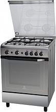 Indesit I6GG1F(X)I Cucina a Gas 4 Fuochi Forno a Gas Grill 60x60 cm Inox