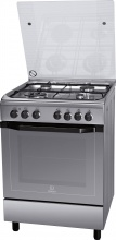Indesit I6TMH2AF(X)I Cucina a Gas 4 Fuochi Forno Elettrico Ventilato 60x60 cm