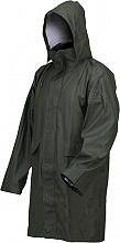 Industrial Giacca Impermeabile Cappotto Antipioggia Cappuccio PVC XL Verde 00129