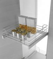 Inoxa 1202DY60-50C Cestello Estraibile Cucina Cassetto Fondo Grigliato Cromo
